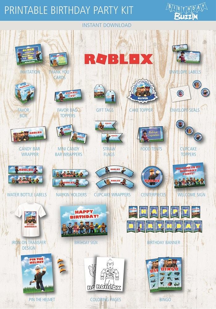 Roblox Birthday Party Printable Kit