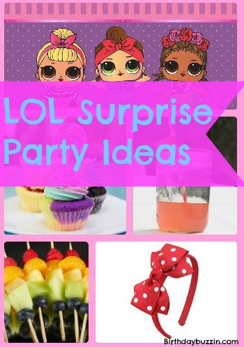 Lol Surprise Birthday Party Ideas And Supplies Birthday Buzzin