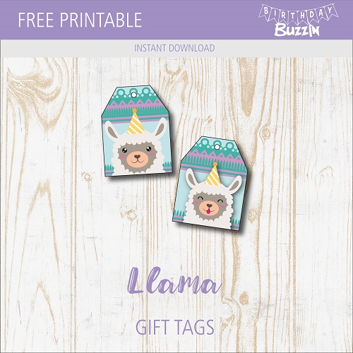 graphic regarding Llama Printable titled Free of charge Printable Llama Want Tags Birthday Buzzin