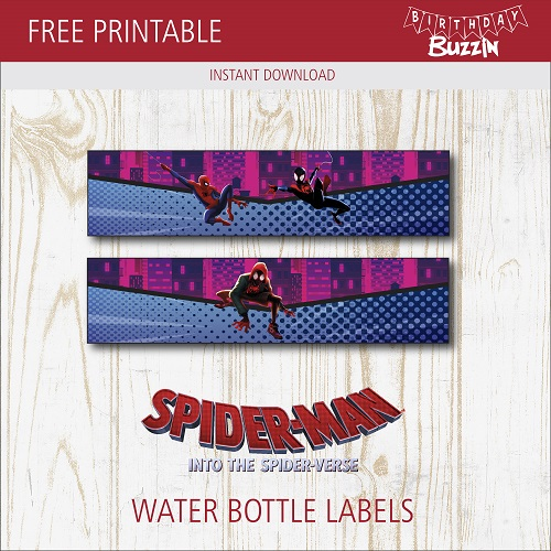 INSTANT DOWNLOAD Editable Text In Power Point Spiderman Water Bottle Label Spiderman Hombre Ara\u00f1a Peter Parker Mary Jane