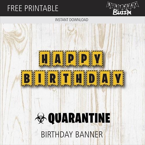 Free Printable Quarantine Birthday Banner