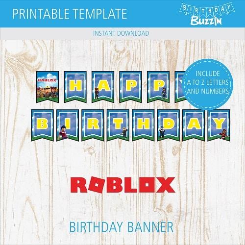 Roblox Birthday Party Printables Archives Birthday Buzzin